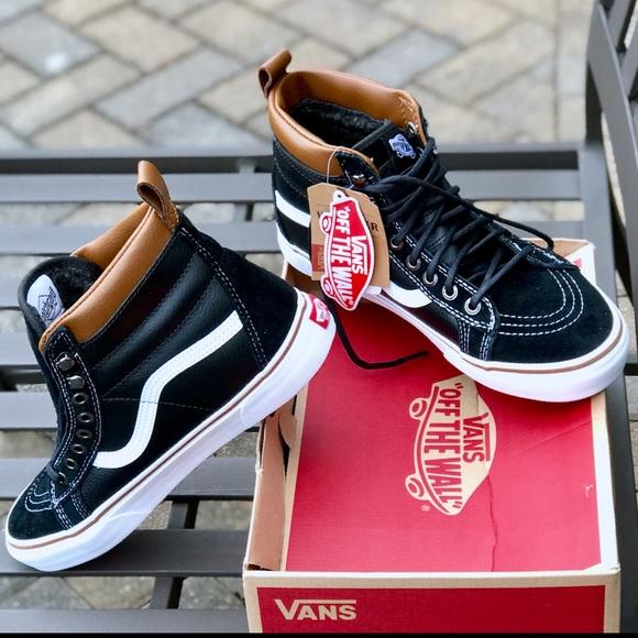 d66fa507464 Vans Shoes | Nwt Sherpa Sk8 Hi Mte Sneaker | Poshmark